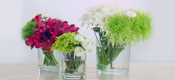 How To Make 3 Simple Flower Arrangements With Loose Stems